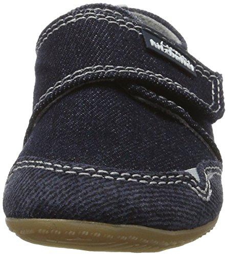 Living Kitzbühel Unisex-Kinder Klettmodell Jeans Hausschuhe Blau (Jeans)
