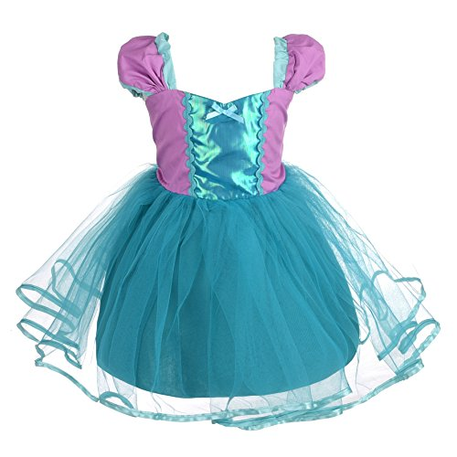 Dressy Daisy Girls Princess Mermaid Dress Costumes for Toddler Girls Halloween Fancy Party Dress Size 4T]()