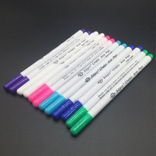 OTRMAX 6-COLOR Auto-Vanishing Erasable Ink Temporary Marking Fabric Marker Pen (2Pcs Each Color) by OTRMAX