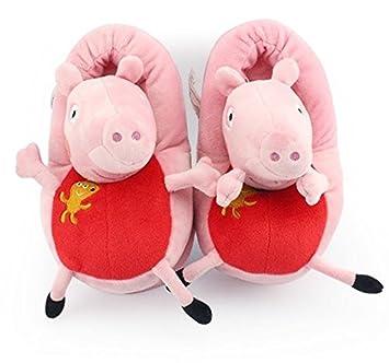 Peppa Pig Familia - Papá de la Momia del Cerdo, George Peppa Peluche Zapatillas (