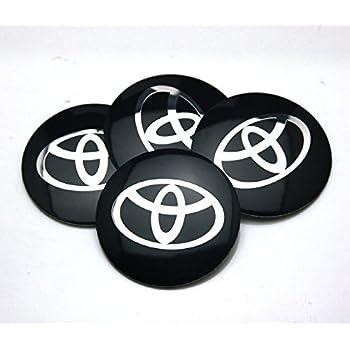 BENZEE 4pcs D120 Black 56.5mm Car Emblem Badge Sticker Wheel Hub Caps Centre Cover TOYOTA COROLLA RAV4 Camry PRIUS REIZ VIOS