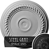 Ekena Millwork CM07ALSGS Small Alexandria Ceiling Medallion, Steel Gray
