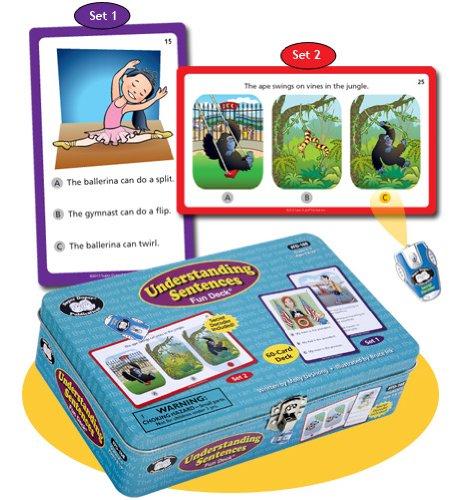 Super Duper Publications Understanding Sentences Fun Deck with Secret Decoder Educational Learning Resource for Children by Super Duper Publications