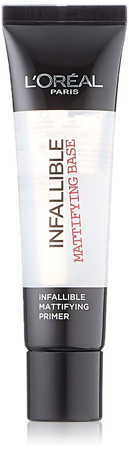 L'Oreal Paris Infallible Mattifying Primer Base, Matte Finish and Velvet-Soft Touch, Smoothes Skin, 35 ml