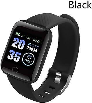 HNMLO Reloj Inteligente Smartwatch 116 Plus Reloj Smart Wristband Hombres Mujeres Frecuencia cardíaca Fitness ...