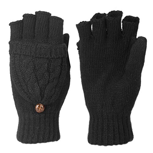 Metog Women Warmer 100%Wool Winter Gloves Mittens