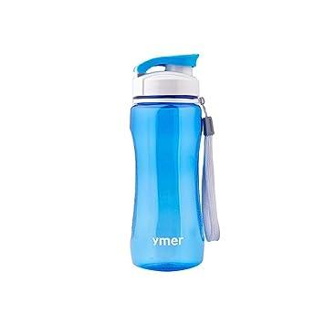 Enlegend Botella de Agua de plástico sellada Anticaída Portátil al Aire Libre, 590 ML,