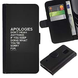 KLONGSHOP / Tirón de la caja Cartera de cuero con ranuras para tarjetas - Hurt Heartbreak Love - Samsung Galaxy S5 V SM-G900