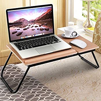 Amazon.com : Home-Like Folding Laptop Desk Portable Standing ...