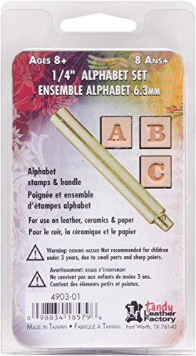 Easy To Do  Alphabet Stamp Set 1/4 Inch Tandy Leather 4903-01