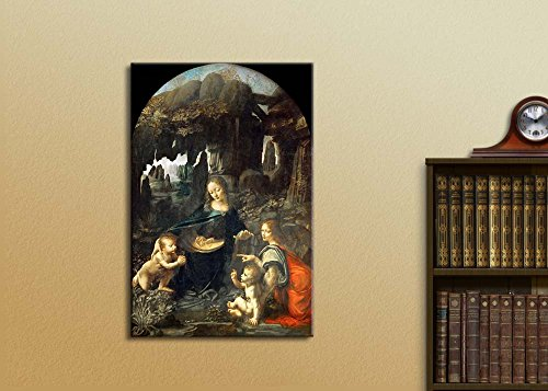 Virgin of The Rocks by Leonardo da Vinci Print Famous Oil Painting Reproduction