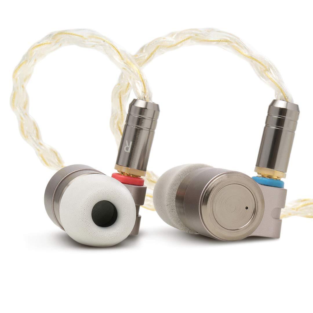 Linsoul TIN HiFi T3 Premium Single Knowles BA Single PU+PEK Dynamic Hybrid Driver InEar Earphones, CNC-machined Metal Design, Detachable Gold-Plated OFC SPC MMCX Cables