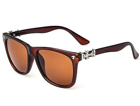 Retro Gafas de sol Tendencia caja de hombres y mujeres gafas ...