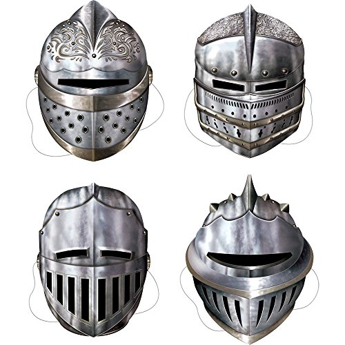 Beistle Medieval Knight Masks (Set Of 4) - Party Supplies ()