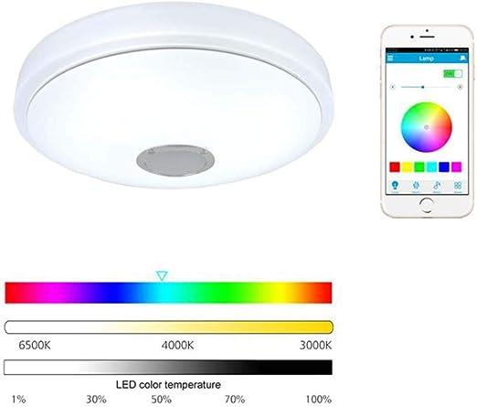 AISHFP Bluetooth De Techo De Luz LED, Smartphone Aplicación De ...
