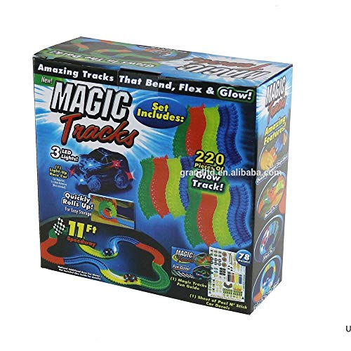 MultiStock Magic Track Car! Colorful Electric Glow Game for Kids, 360 st