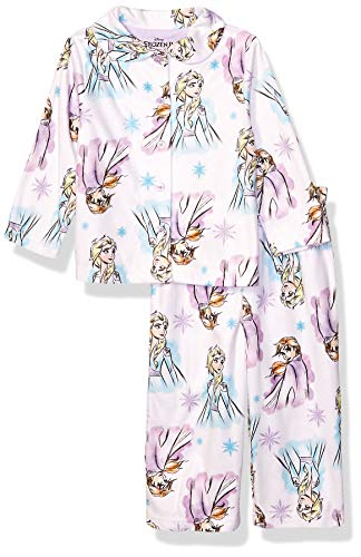 Disney Girls' Little Frozen 2 2-Piece Pajama Coat Set, Sweet Sisters, 4 (Frozen Pjs 5t)