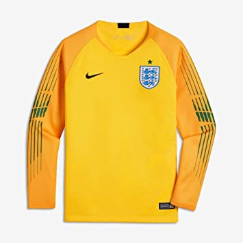 bd38e29cd Nike 2018-2019 England Home Goalkeeper Football Soccer T-Shirt (Yellow) -