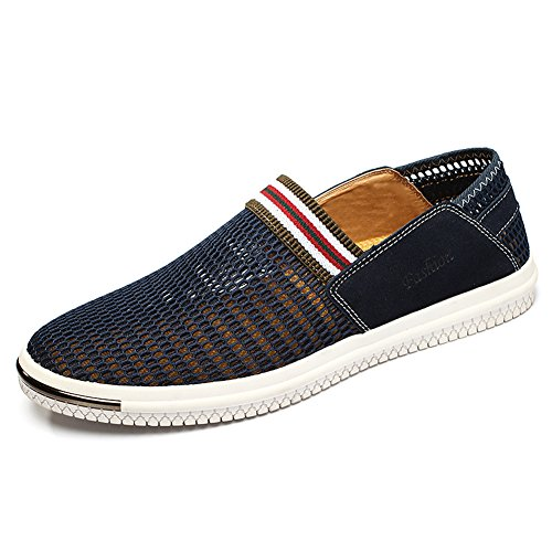Gomnear Zapatos Respirables Hombres Ligero Malla Zapato Casual Ponerse Conducción Moda Al Aire Libre Deportes Corriendo: Amazon.es: Zapatos y complementos