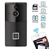 WiFi Video Doorbell, Wireless Smart Doorbell Camera, SOOCOO 720P HD Wifi Security Camera Real Time Video Two-Way Audio Intercom, PIR Motion Detection, Night Vision,Smart Monitor, 16G TF Card/2 Battery