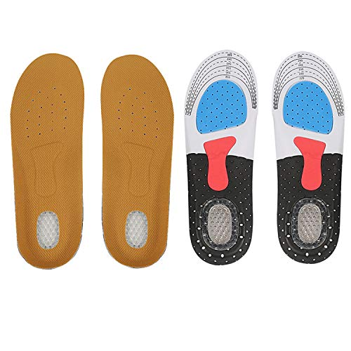 Shoe Insoles, 2 Pairs Chiicol Sport Ultra-Comfortable Arched Insoles, Plantar Fasciitis Feet Insoles, Cuttable and Breathable Relieving Flat Feet and Foot Pain for Walking and Running(Size: S)