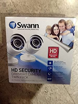 Twin Pack Swann SWPRO-hdcamwh2-wm Day Night Security Camera Kit