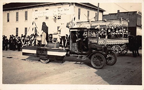 - Real Photo Postcard 4th of July Washer Machine Truck Pulled Parade Float~112286