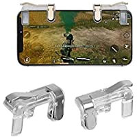 Aryshaa PUBG Mobile Game Controller, Gamers Yard 1 Pair Sensitive Game Triggers for PUBG/Knives Out/Rules of Survival L1R1 Game Joysticks Gamepad for Android iOS Phones Transparent