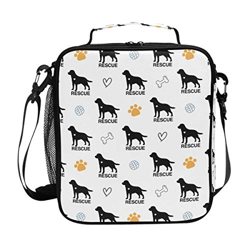 Insulated Lunch Bag Labrador Retriever Rescue Dog Lunch for sale  Delivered anywhere in USA