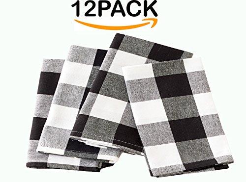 Napkin Black And White Check - 6