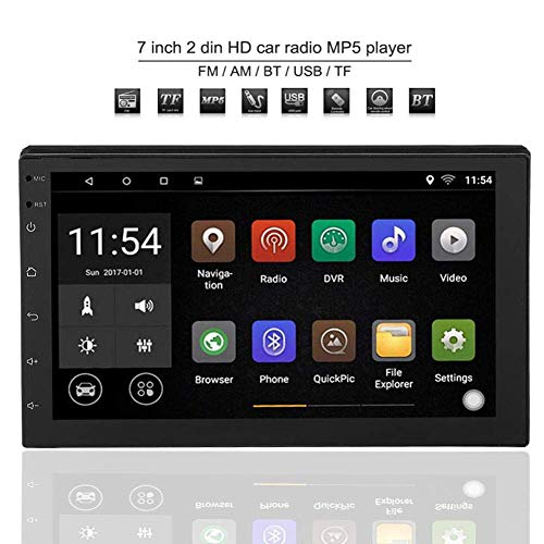 Radio Estereo De Audio Estereo Para Coche Bluetooth De Din Doble De 7 Pulgadas Hd 1g 16g Espacio De Almacenamiento Wifi Reproductor De Estereo Multimedia De Radio De Coche Para Android