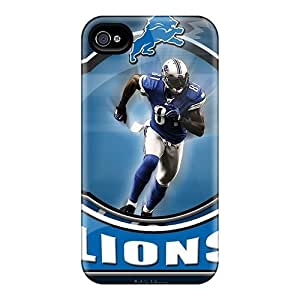 4/4s Scratch-proof Protection Case Cover For Iphone/ Hot Detroit Lions Logo Phone Case by runtopwellby Maris's Diary
