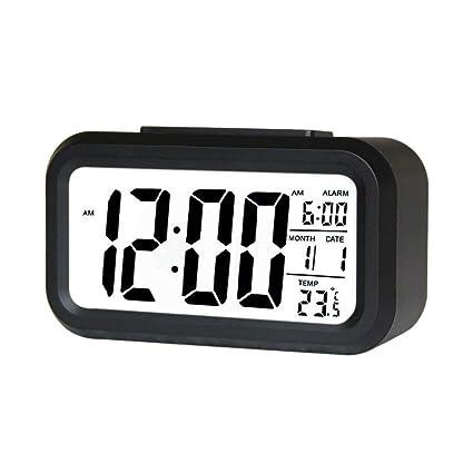 4tens LCD Screen Smart Digital Time Date Temperature Display Led Alarm Clock Multi Colour