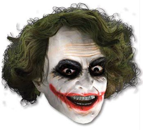 Joker Vinyl The Dark Knight Rises Supervillains Adult Halloween Costume Mask (Super Villain Costumes For Men)