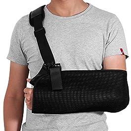 ROSENICE Arm Sling – Shoulder Immobilizer Medical Support Strap for Broken Fractured Arm Elbow Wrist, Adjustable…
