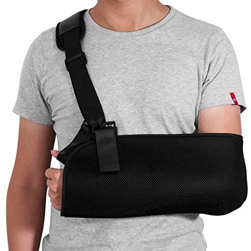 - ROSENICE Arm Sling - Shoulder Immobilizer Medical Support Strap for Broken Fractured Arm Elbow Wrist, Adjustable Shoulder Rotator Cuff Support Brace, Left and Right Arm