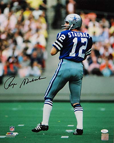 the latest 4cb2d 91ee2 Roger Staubach Autographed Dallas Cowboys 16x20 PF Photo ...