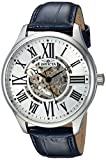 Invicta Men's 'Vintage' Automatic Stainless Steel and Leather Casual Watch, Color:Blue (Model: 23634)
