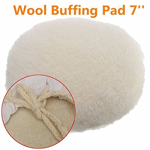 7 Inch Polisher Buffer Soft Wool Bonnet Pad with Loop for Po