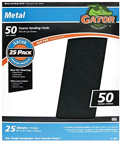 Gator Grit Sandpaper 50 Grit Coarse Cloth