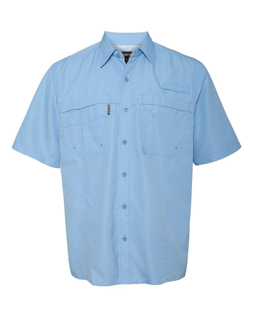 DRI Duck Mens 4357 Guide Cotton Poplin Short Sleeve Casual Button Down Shirt