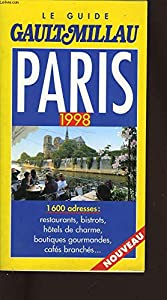 Paperback Guide Gault et Millau Paris : Edition 1998 [French] Book