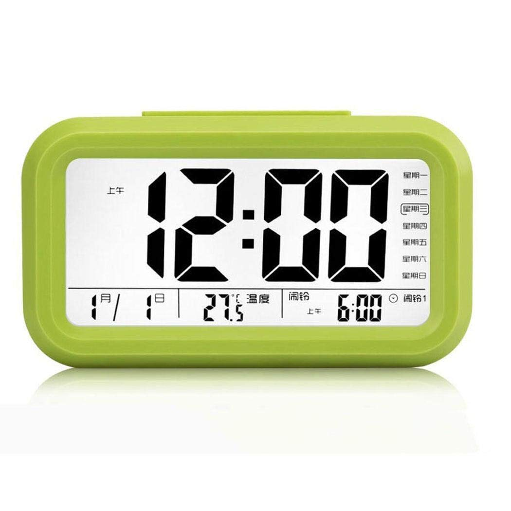 wareg Voice Report Clock Large Screen Digital Display LED Electronic Alarm Clock Alarm Clocks