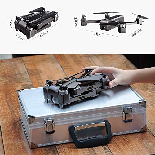 Potensic D88 Foldable Drone, 5G WiFi FPV Drone with 4K Camera, RC Quadcopter for Adults and Experts, GPS Return Home, Ultrasonic Altitude Setting, Optical Flow Positioning, 2 Battery 40min-Upgrade 51 2BhPcgZhgL