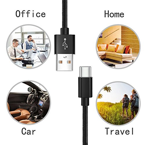 Lightning Cable, Basse [4 Pack] Durable Tangle-Free Nylon Braided Charging Cable for iPhone X, 8 Plus, 8, 7 Plus, 7, 6 Plus, 6, 6S Plus, 6s, 5, iPad and More (Black White)