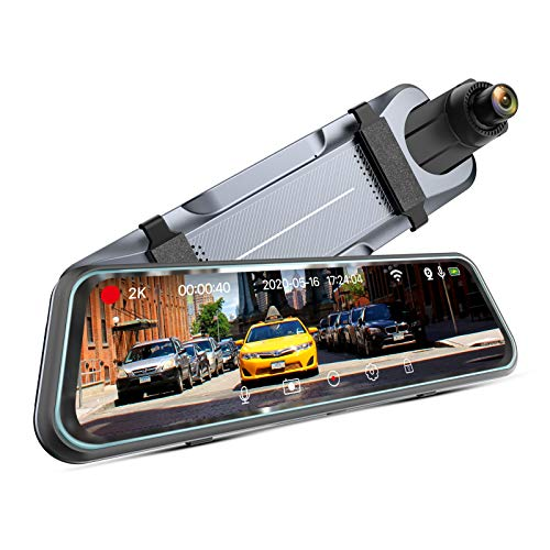 "iMirror 9.66"" 2.5K Mirror Dash Cam for Cars with Full IPS Touch Screen, Waterproof Backup Camera, Rear View Mirror Camera, Enhanced Night Vision with Sony Starvis Sensor, Parking Assistance"