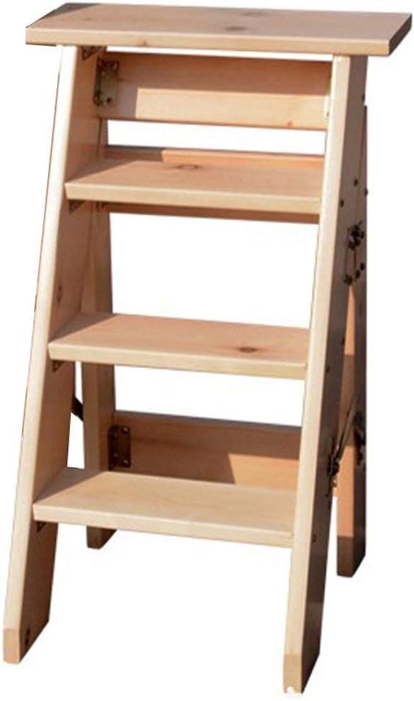 ZGYQGOO Herringbone - Escalera Plegable de Madera Maciza, decoración Unilateral para el hogar, 4 o 5 Niveles de tejado (Color: A, tamaño: 80 cm), a, 80 cm: Amazon.es: Hogar