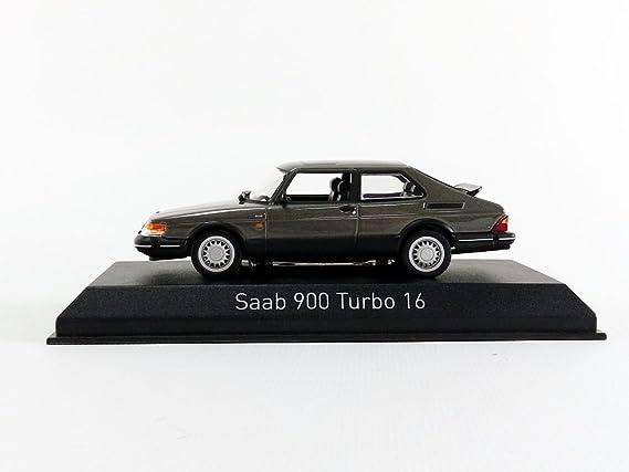Norev 1:43 1991 Saab 900 Turbo 16 Coupe - Gris metálico - NV810033: Amazon.es: Juguetes y juegos