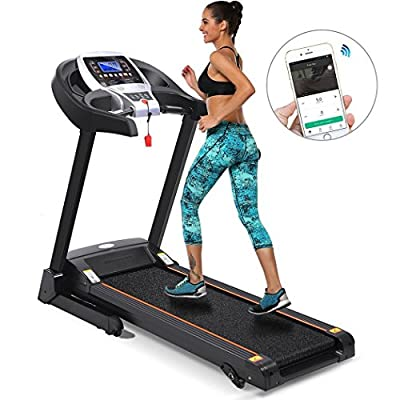 Cosway 3.5hp Fordable Treadmill Indoor Commercial Health Fitness Training Equipment with APP Bluetooth Control, US Stock