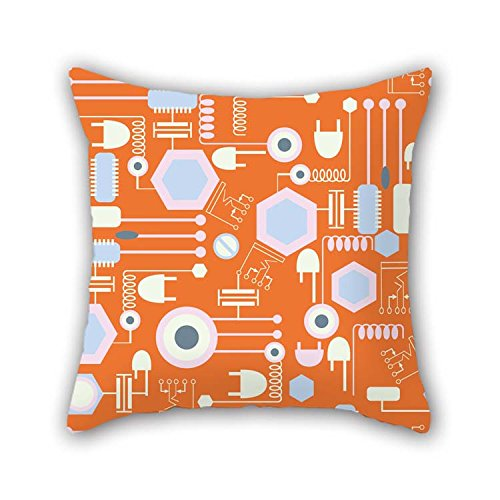 - eyeselect Pillow Shams of Colorful Geometry 16 X 16 Inches / 40 by 40 cm Best Fit for Bar Bf Bedroom Bedroom Study Room Drawing Room Twin Sides for Christmas